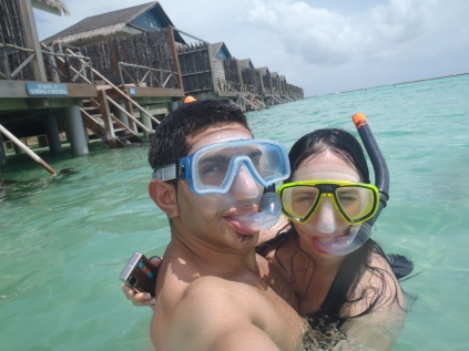 Snorkelling in the Maldives