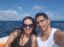 On A Speed Boat At The Blue Lagoon In The Maldives