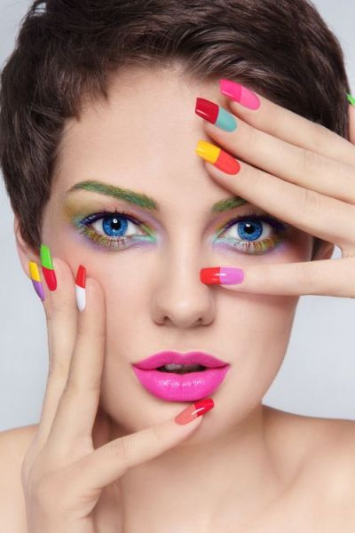 Colourful Acrylic Nails