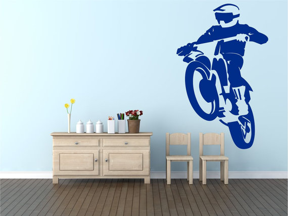 Motocross Wall Art by Pondicherry Vinyl.