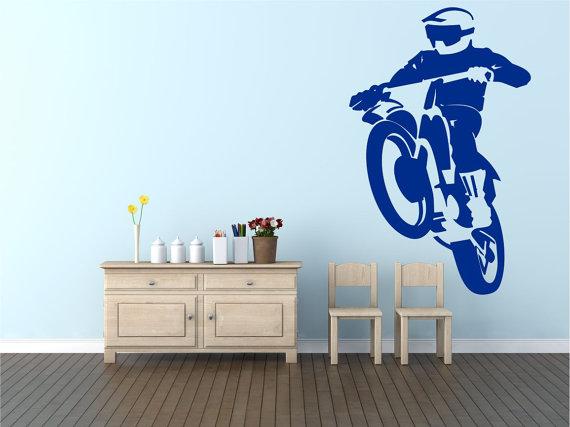 Motocross Wall Art by Pondicherry Vinyl.