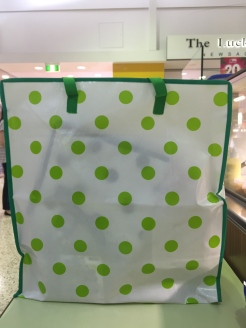 Green Polka Dot Bag