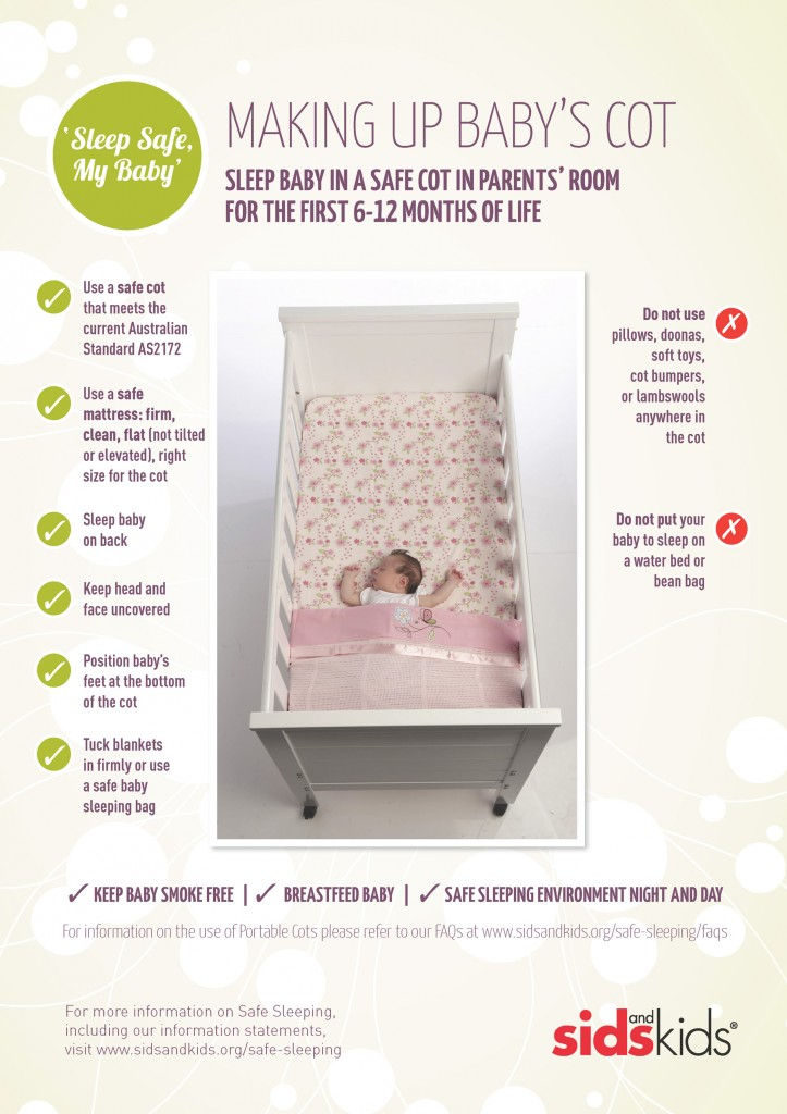 SIDS: Making-up-babies-cot